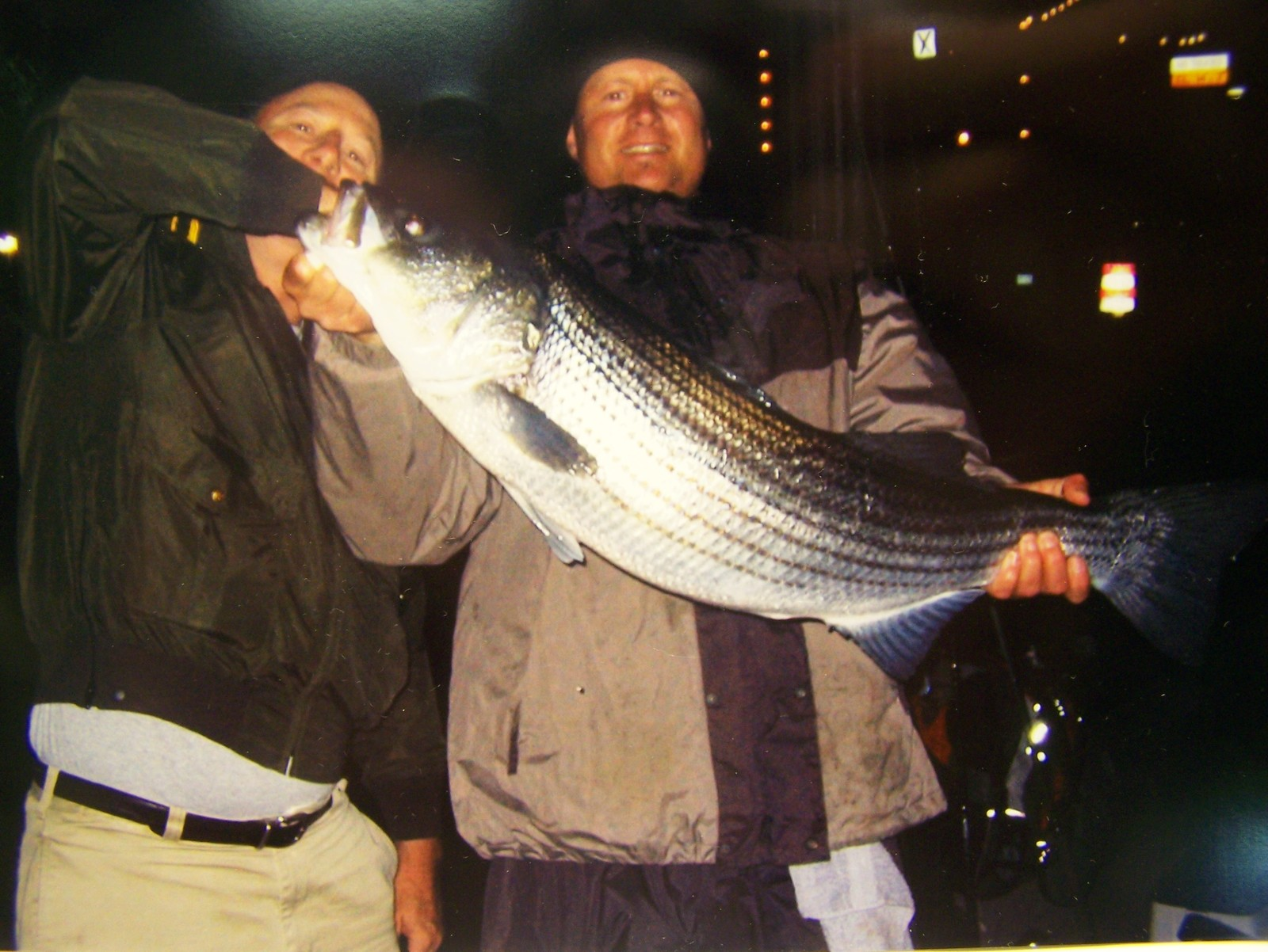 "37"" Striper from Boston Harbor. 19.2 lbs.  Yummy! 