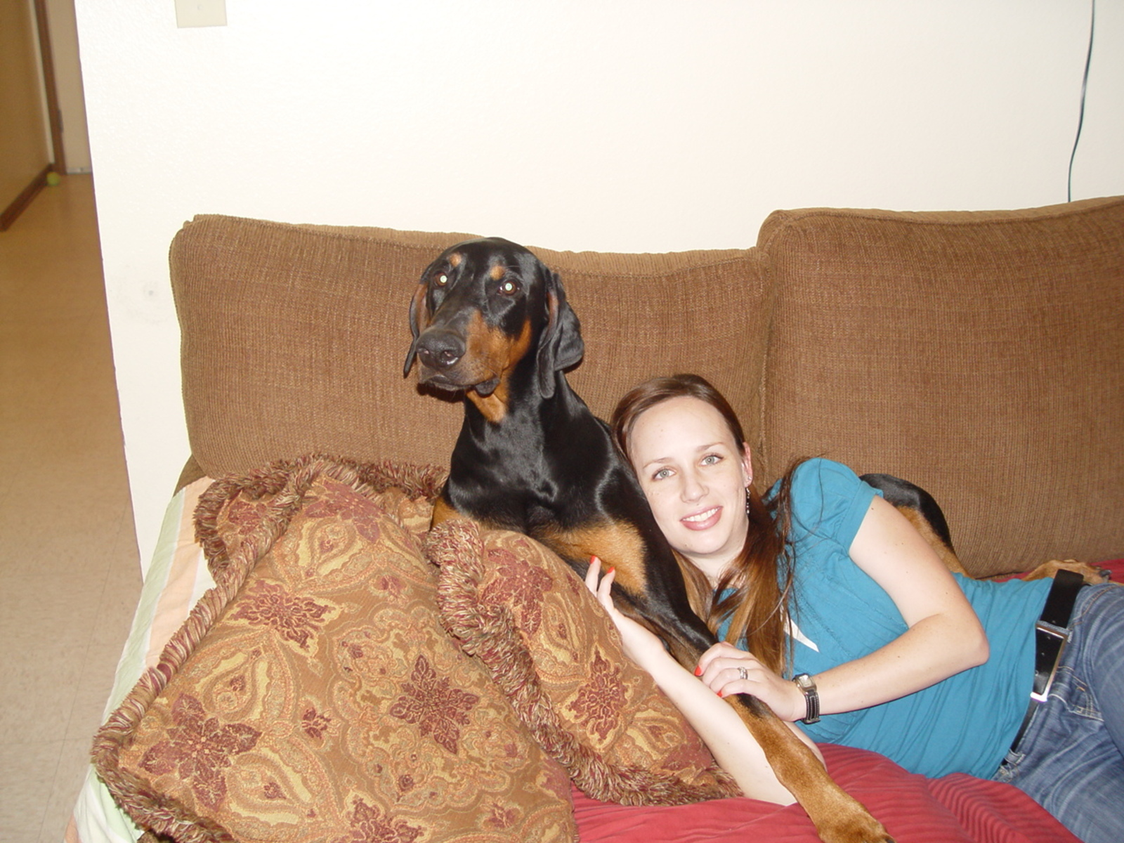 Myself and Voss (foster Dobe) | by Jennifer Morford