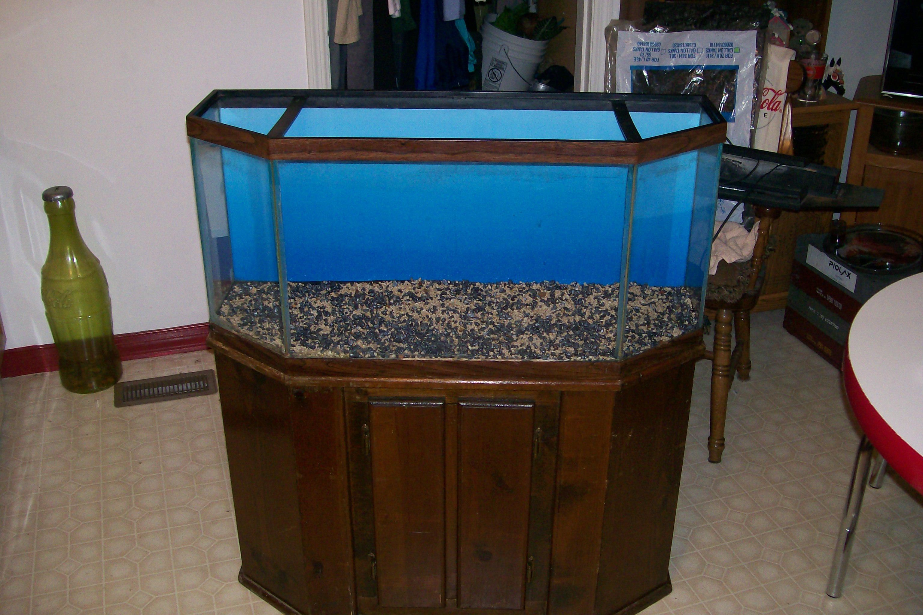 33 gal flat back hex tank for Hexagon fish tank lid